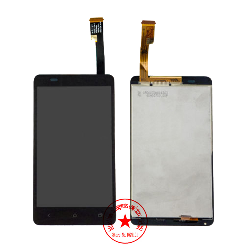 все цены на  Top Sale Test Work LCD Display Touch Screen Digitizer Assembly For HTC Desire 400 Dual Sim T528W Mobile Replacement  онлайн