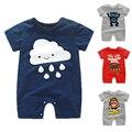 Baby Boy Rompers Лето Девочка Одежда С Коротким Рукавом Малышей Baby Boy Одежда Наборы Roupas Младенческой Новорожденных Детские Комбинезоны