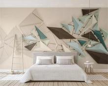 купить beibehang Custom living room wall 3d wallpaper 3d stereoscopic triangle polygon TV background wall wallpaper for walls 3 d дешево
