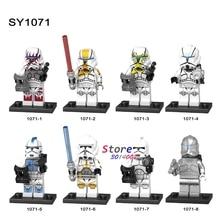 8pcs Infinity War Figures THANos SY1071 Star Wars Clone Trooper Army Starwars SET Iron Man building blocks toys for children