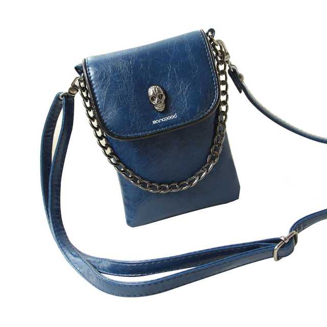 Faux Leather Skull Clutch 3