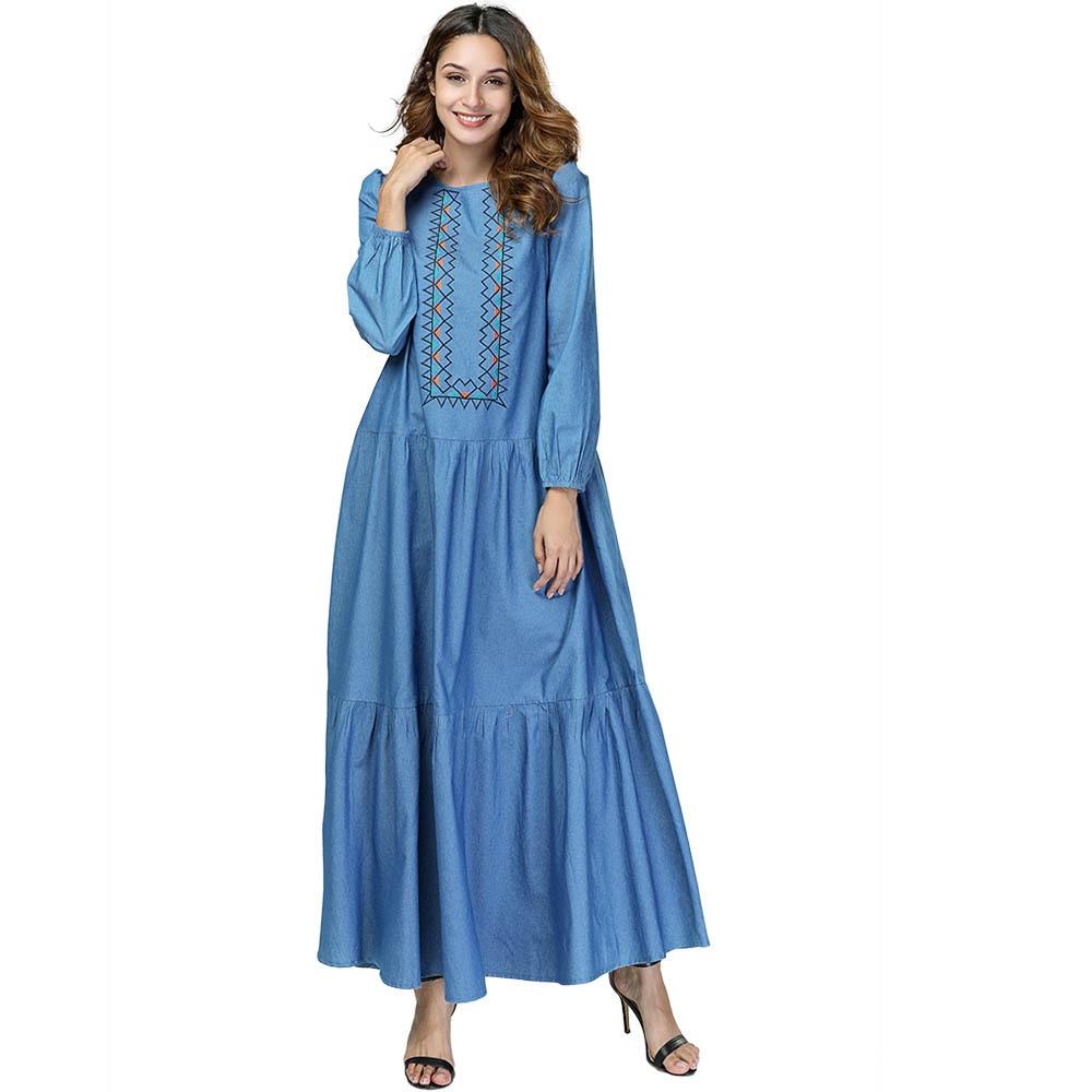 25462a0e9 2019 de moda de primavera y otoño de las mujeres Vestido de manga larga de  cuello Plus tamaño 4XL ...