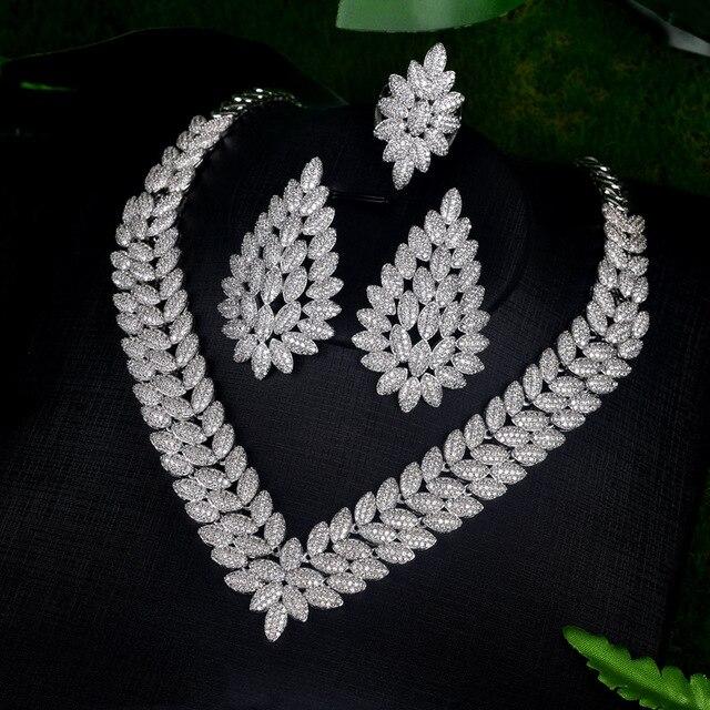 4 шт/комплект женские свадебные ювелирные украшения с фианитом фотография