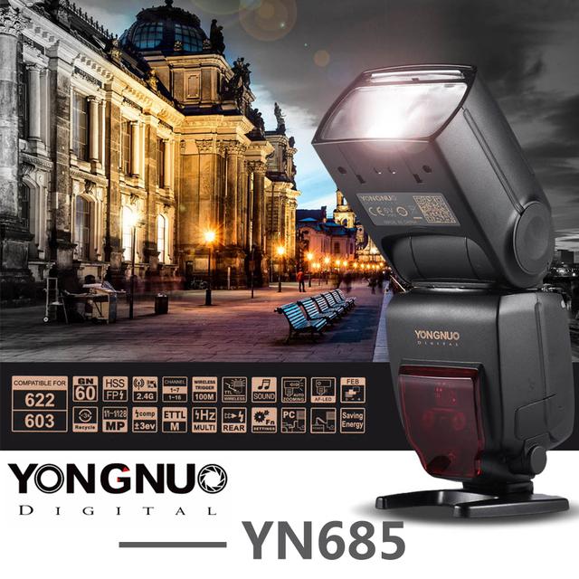 YONGNUO YN685 Wireless 2.4G HSS TTL/iTTL Flash Speedlite for Canon Nikon D750 D810 D7200 D610 D7000 DSLR Camera Flash Speedlite