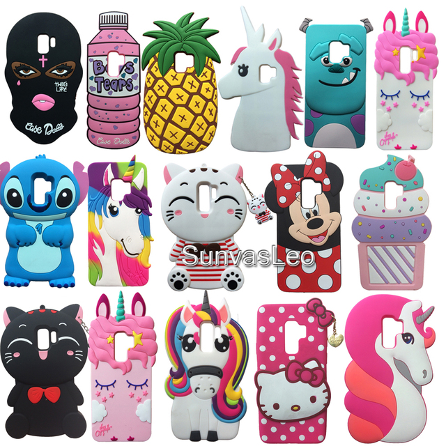 outlet store dda8f 3e383 US $3.59 10% OFF|Aliexpress.com : Buy For Samsung Galaxy S9 / S9+ S9Plus 3D  Case Cartoon Animal Unicorn Soft Silicone Case Cover Skin Phone Fundas ...
