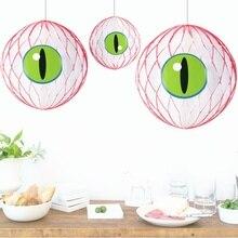 1pc/set 20cm 8inch Eye Got You Halloween Decorations 3D Honeycomb Eyeballs Hanging For Party
