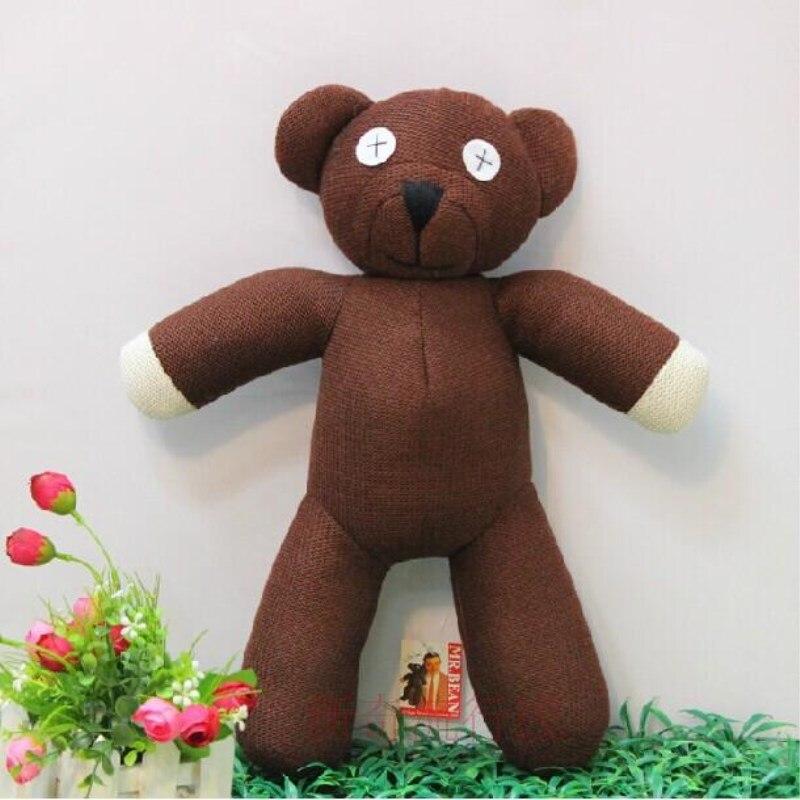 Новая горячая Распродажа Бесплатная доставка 23 см высота Мистер Бин Мишка животных мягкие плюшевые игрушки для Детский подарок коричневый ... ...