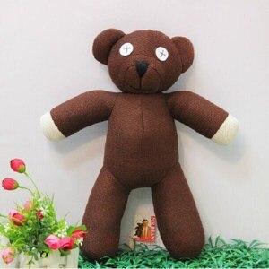 Nova venda quente frete grátis 23cm altura mr bean teddy bear animal de pelúcia brinquedo para presente das crianças cor marrom presente natal
