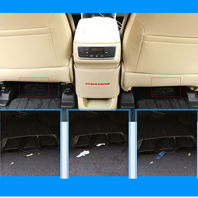 Atreus 2X Car Seat Air Conditioner Air Outlet Protective Cover For Toyota Highlander Kluger Accessories 2014 2015 2016 2017 2018 3