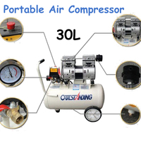 30L Portable Compressor Noisy Less Light Tool 0.7MPa Pressure Air Pool Cylinder Economic Speciality Piston Filling Machine
