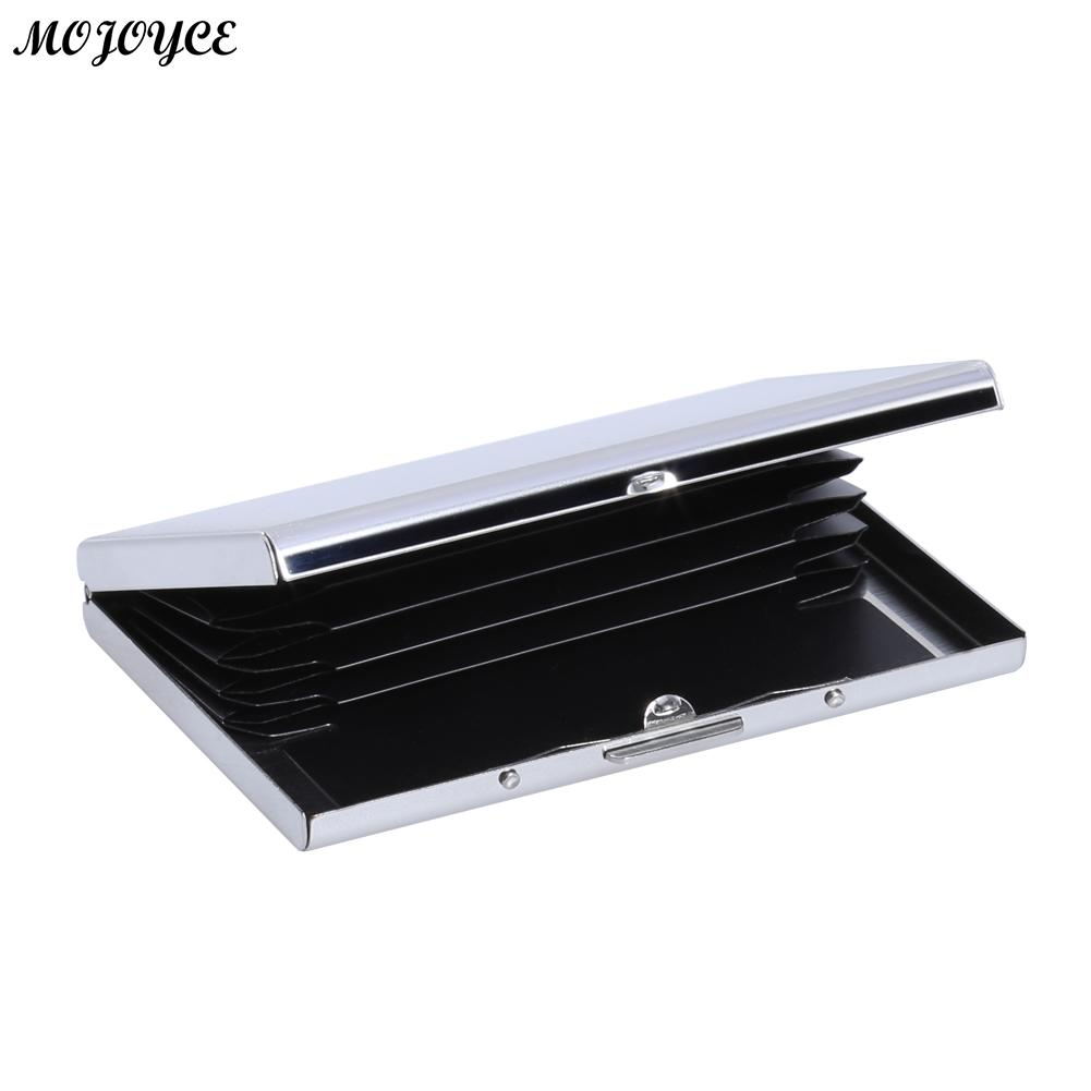 MOJOYCE Stainless Steel Bank Male Business Card Fashion ID Card Case Credit Holder Wallet Travel Card Wallet