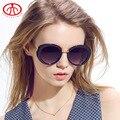 2016 nuevas mujeres Gafas de sol UV protección del marco de PC chicas Gafas de sol Gafas