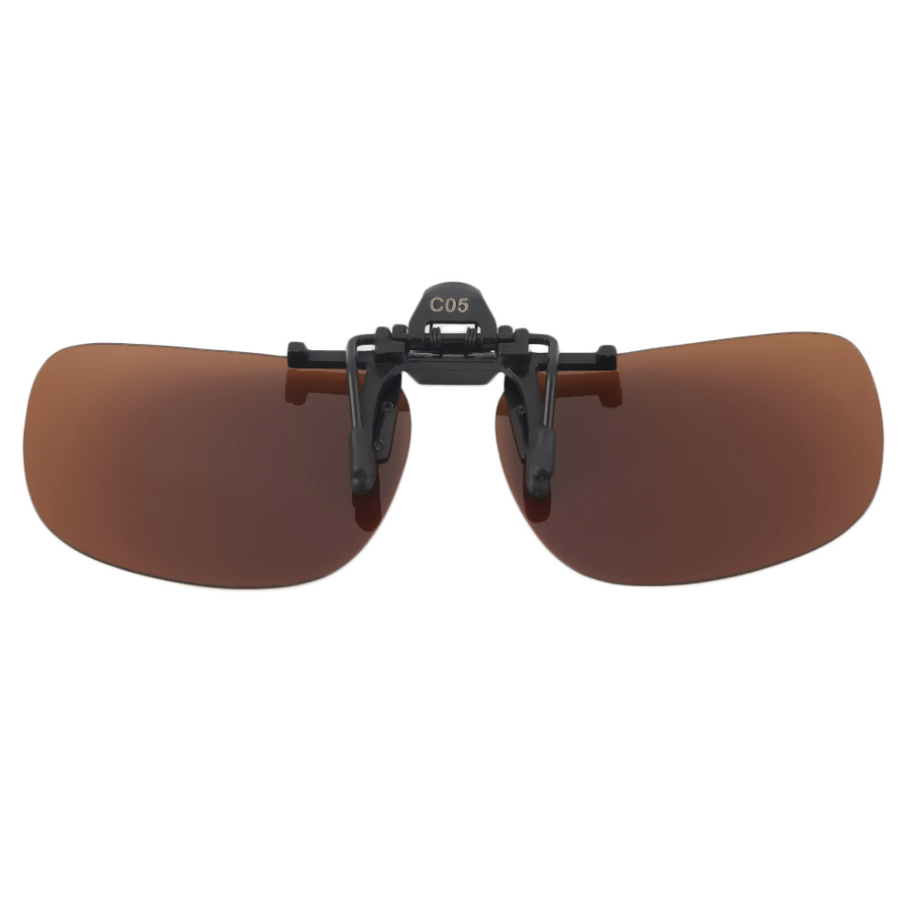 5a2bf7779f Polarized Clip On Sunglasses UV 400 TAC Plastic + Metal Clip on Flip up  Driving Glasses lens Black Brown Color Sunglasses 2018-in Sunglasses from  Apparel ...