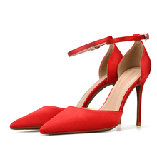 Comfort Sandals Women Stiletto Ankle Strap High Heels Pointed Toe Bridal Party Shoes Sexy Ladies Summer Pumps Shoes J0029 недорого