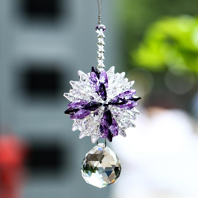 30mm Crystal Prisms Ball Suncatcher Prisms Octagon Bead Hanglamp - Tuinbenodigdheden