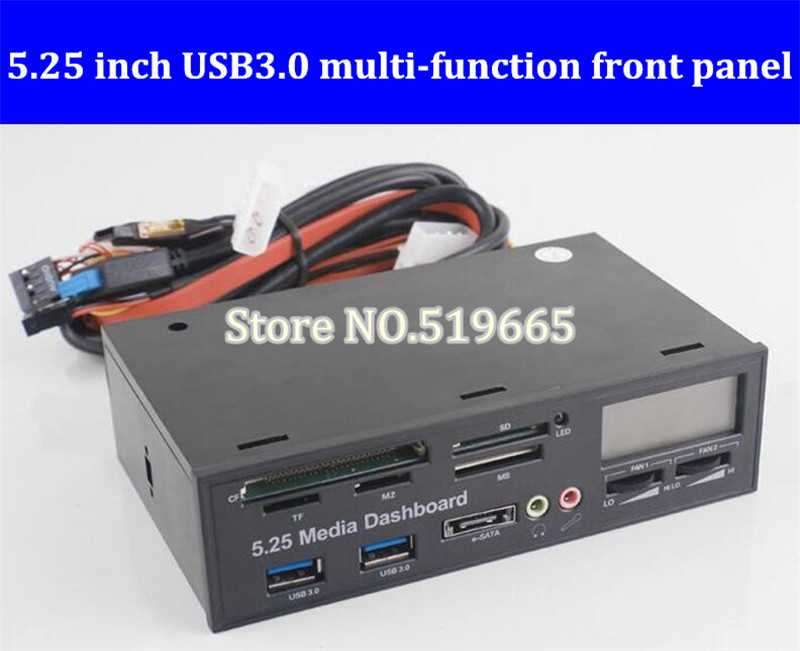 все цены на USB 3.0 Front Panel Drive Bay for Desktop Computer Chassis Front Panel LCD Temperature Display Fan Speed Control for Computador