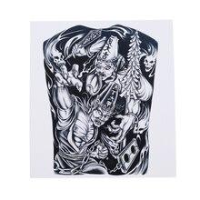 Готические водонепроницаемые татуировки наклейки холодный и пот Прочный Прохладный зомби демон Горячие тату Цветок на руку татуировки наклейки