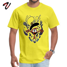 Mens Tshirt Imagination Overload Discount Wolf Sleeve Casual T-Shirt Krishna O-Neck Men yellow Tees Gift T Shirt ostern Day