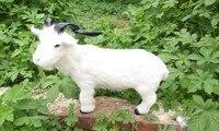 large 37x28cm simulation sheep model toy,polyethylene&furs white goat toy 1752
