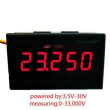 1 PC New Red LED 5 Digit DC 0-4.3000-33.000V Digital Voltmeter Voltage Meter Car Panel SA104 P50