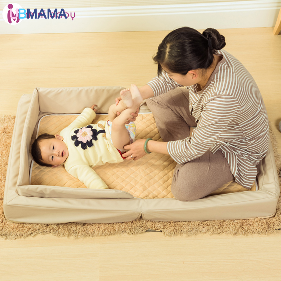Multifunction Foldable Oxford cloth portable Game Beds Waterproof and dustproof Newborns baby Crib bed for 0-36M baby122*68*13cm