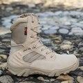 2017 Мужчины сверхлегкий Военные Тактические Ботинки Desert Combat Открытый бот Армия Походы Путешествия сплит Кожа летние Ботильоны
