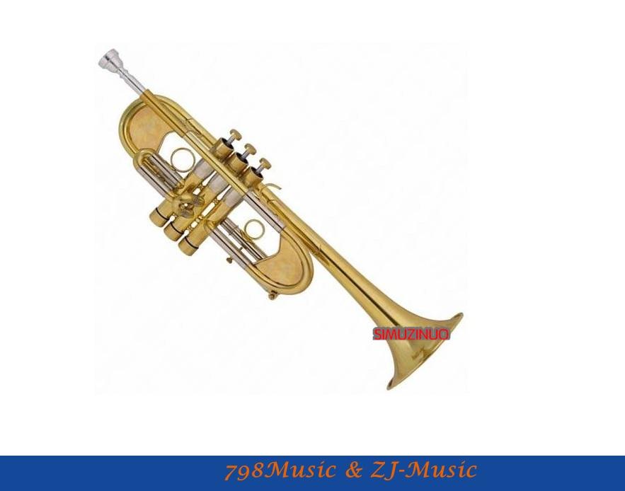 Պրոֆեսիոնալ մակարդակի Matt Brass Trumpet Heavy C horn Պատվերով շարքը գործով