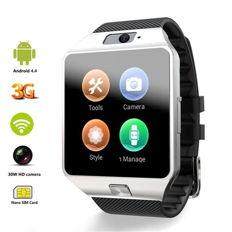Original 3G WIFI QW09 Android montre intelligente 512 mo/4 GB Bluetooth 4.0 réel-podomètre carte SIM appel Anti-perte Smartwatch PK DZ09 GT08