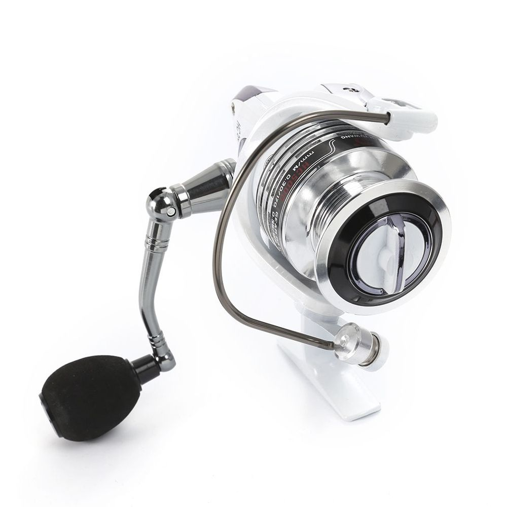 LIE YU WANG 13 + 1BB Gear Ratio 5.2: 1 Spinning Fishing Reel with Exchangeable Handle Automatic folding for Casting Line HC100
