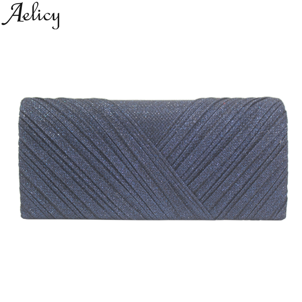 Aelicy 2019 Fashion Women Solid Ruched Embroidery Cocktail Party Bag Ladies Tote Phone Bag Evening Clutch bags Luxury Handbags 3