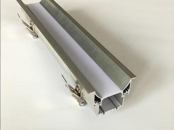 Envío Gratis 1,8 m/unids 10 unids/lote de gran tamaño extrusión de perfiles de aluminio fabricante de la Vía Láctea cubierta tapas incluido