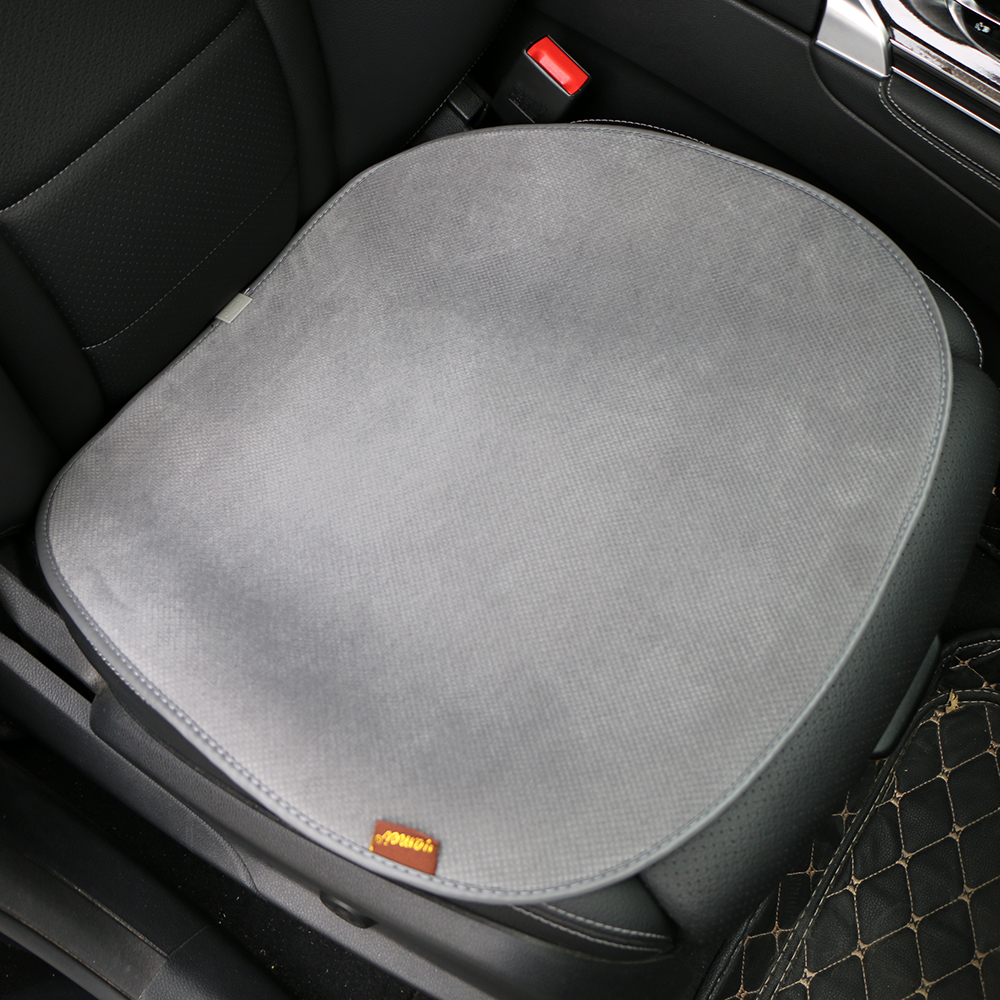 1 Piece O Shi Car Short Plush Square Seat Cushion Comfortable Car Seat Cover Universal Single Seat Without Backrest Chair Pad Automobiles & Motorcycles Interior Accessories