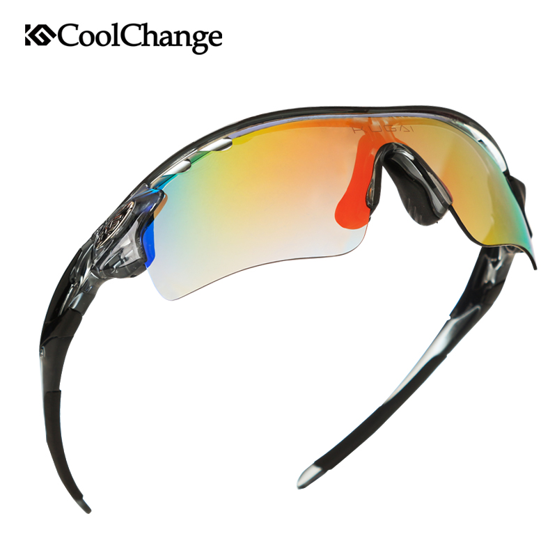 CoolChange Polarized Cycling Glasses Bike Outdoor Sports Men Women Sunglasses 5 Lens Goggles Riding Protection Bicycle Eyewear 2017 ftiier multi lens cycling glasses polarized riding bicycle sunglasses goggles driving eyewear outdoor sports sunglasses