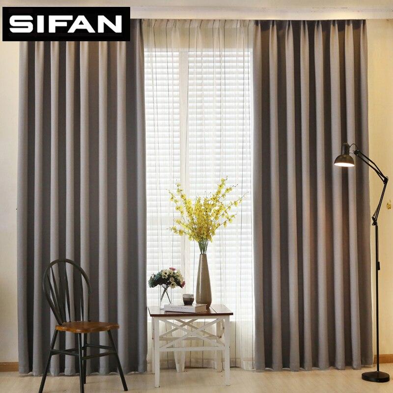 solide couleur faux linge blackout rideaux pour salon. Black Bedroom Furniture Sets. Home Design Ideas