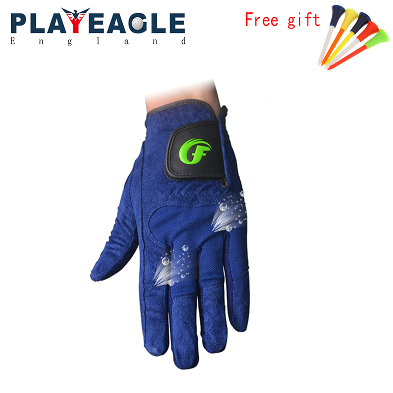 Blue Color Washable Men Golf Glove Left Hand Custom logo Golf Glove in Breathbale Fabric Durable Outdoor Sports Gloves Free Gift