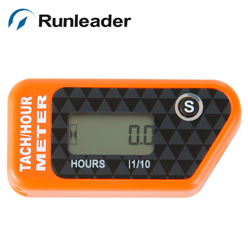 Runleader Digital PAR Erasable Gasoline Engine Hour Meter RPM Tachometer For Motorcycle snowmobile Jet Ski Marine Boat Generator