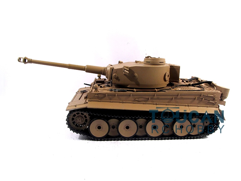 100% Metal Mato 1/16 Tiger I RC Tank KIT Model Infrared Barrel Yellow 1220 mato sherman tracks 1 16 1 16 t74 metal tracks