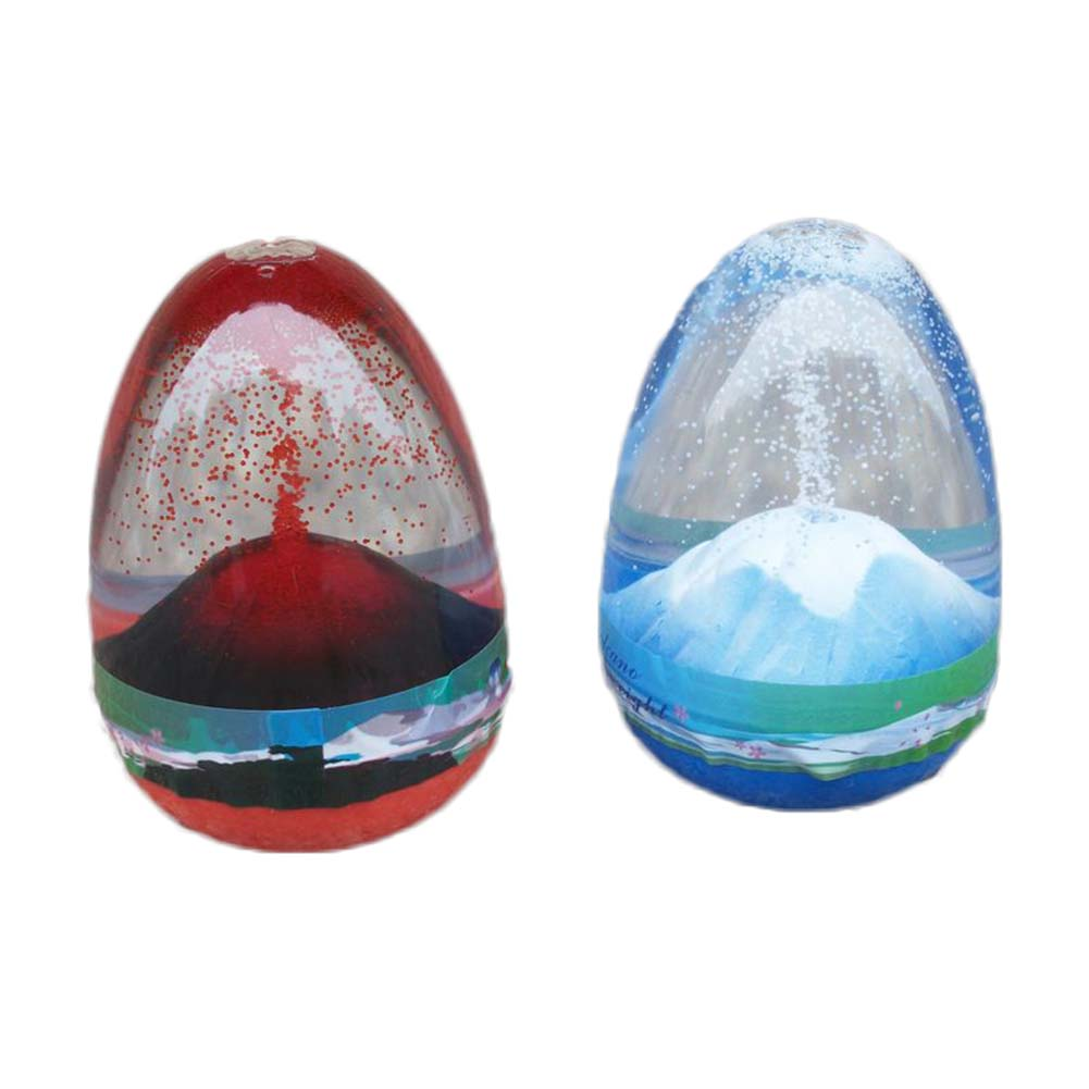 1pc novelty eggs shape volcanic eruption desk toy cabochon resin craft craftwork snow globe home decoration accessories gadget