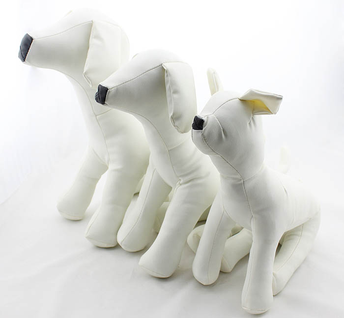 Cute New Pet Torsos Models PVC Leather Models Dog Mannequins Pet Clothing Stand S/M/L DMLS-001D
