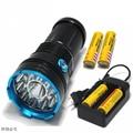 25000 lumens light King 12T6 LED flash light 12*XM-L T6 LED Flashlight Torch Lamp Light For Hunting Camping