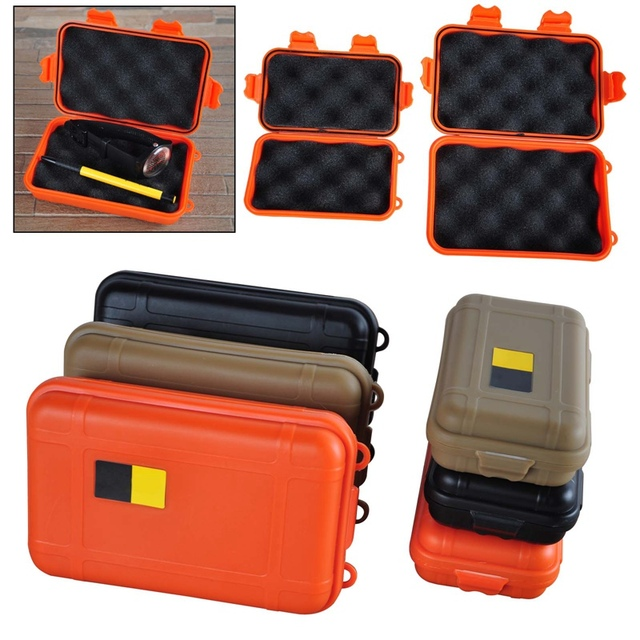 Portable Outdoor Waterproof Shockproof Air Survival Tool Storage Case Container Anti Pressure Carry Box Large