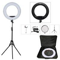 Yidoblo Black FS 480II 5500K Dimmable Camera Photo Studio Phone Video 18 55W 480 LED Ring