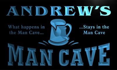 x0035-tm Andrews Man Cave Custom Personalized Name Neon Sign Wholesale Dropshipping On/Off Switch 7 Colors DHL