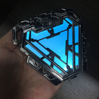 iron Man Avengers Endgame ark Arc Reactor LED Light Action figure toys doll collection Christmas gift with box