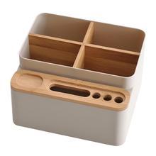 Caja de almacenamiento de papelería Escritorio de oficina caja de almacenamiento multiusos escritorio desmontable caja de almacenamiento escuela Oficina estudiantes caja de almacenamiento Envío Directo