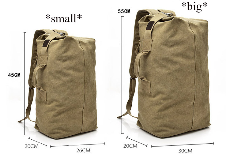 HTB1a19bVSzqK1RjSZFpq6ykSXXay - Large Capacity Travel Climbing Bag Tactical Military Backpack Women Army Bags Canvas Bucket Bag Shoulder Sports Bag Male XA208WD