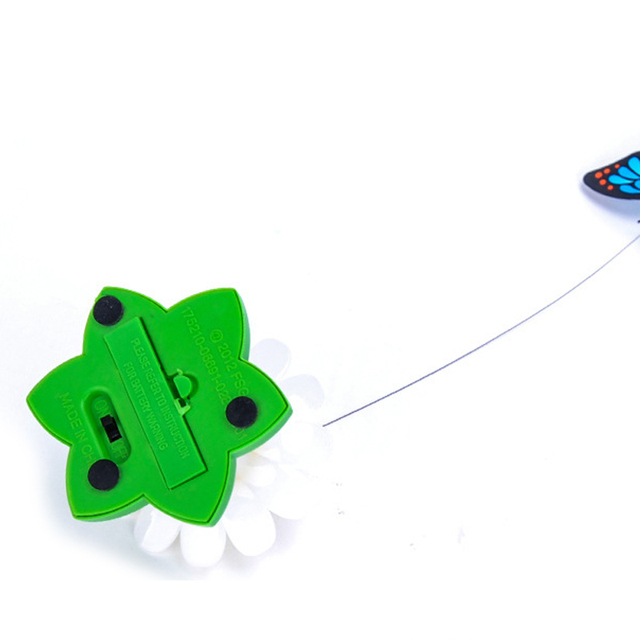 1PC Pet Cat Toys Electric Rotating Colorful Butterfly Funny  Pet Seat ScratchToy For Cats Kitten Fun toys