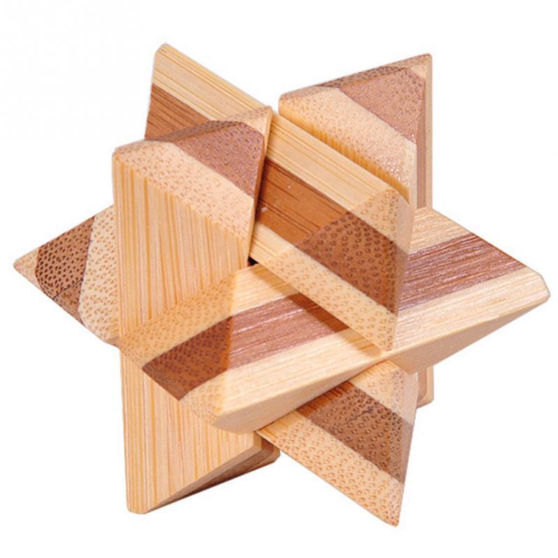 1 шт. бамбуковый развивающий замок 3D игрушка ручной работы для взрослых головоломка игра - Цвет: corner kick