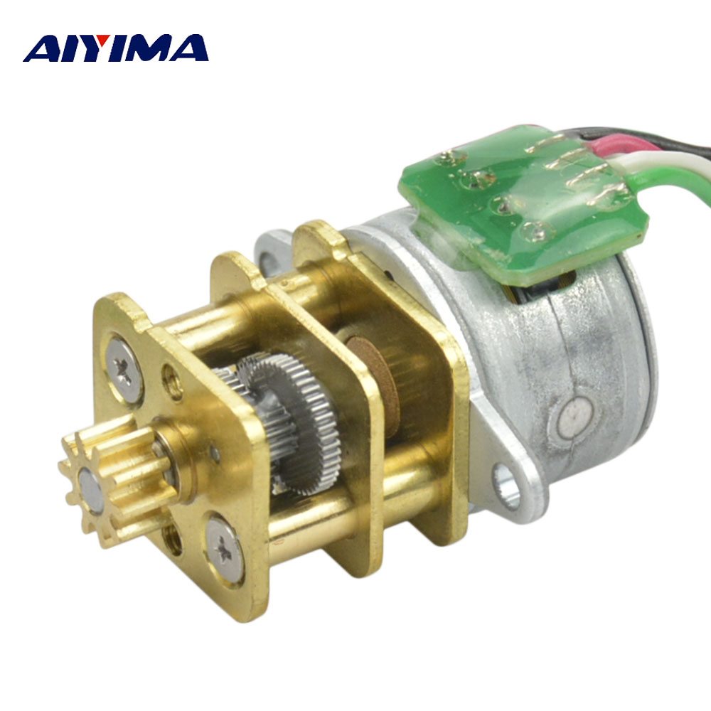 Aiyima 15 Stepping Micro Gear Motor All Metal Gear Reducer Precision Motor With Gear Aiyima 15 Stepping Micro Gear Motor All Metal Gear Reducer Precision Motor With Gear