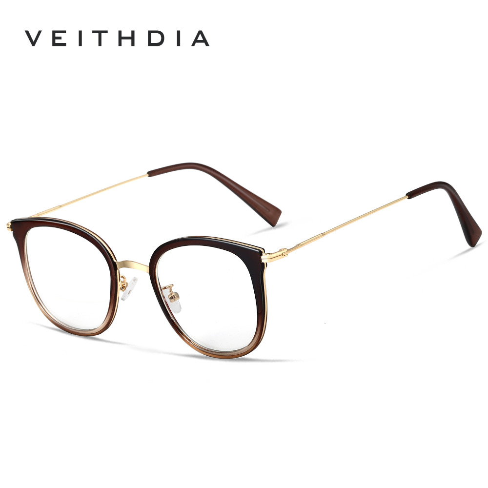 VEITHDIA Men Clear Lens Optical Glasses Eyewear Frame Unisex Eye Glasses Spectacle Frames For Women oculos Accessories V1232